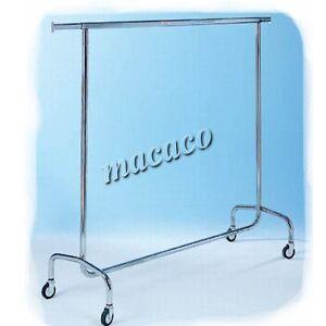 STENDER-APPENDIABITI-acciaio-cromo-robusto-L150-professionale-negozio-17003