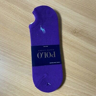 Polo Ralph Lauren Ankle Socks 3 Pair Cotton Spandex Socks Size 10-13 Unisex