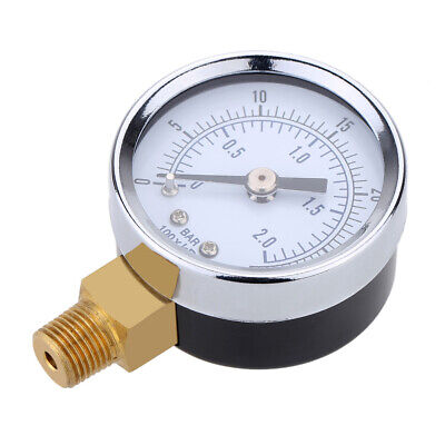 Best Oil/Air/Pool/Spa Filter Water Pressure Gauge Bottom Mount 1/4 0 ~ 30psi