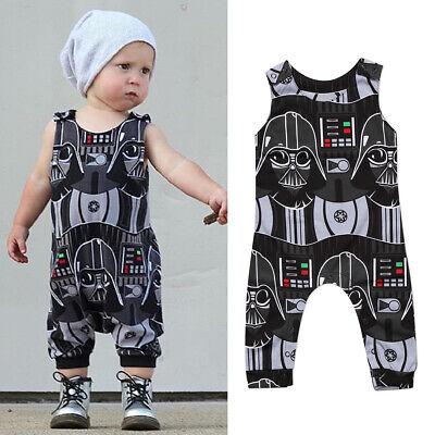Childrens Star Outfit (US Newborn Kid Baby Boy Star Wars Romper Bodysuit Jumpsuit Clothes Summer)