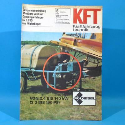 DDR KfT Kraftfahrzeugtechnik 6 1974 Wartburg 353 Austin Allegro W 50 Alfasud 79