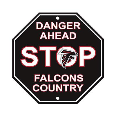 NFL Atlanta Falcons Stop Sign Danger Ahead Home Room Bar Decor 12