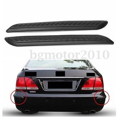 2x Car Rubber Bumper Corner Protector Door Guard Cover Lip Crash Bar Trim Black