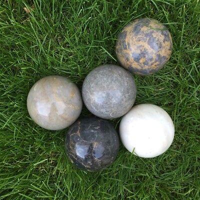 nkugeln 10 cm, Garten Dekoration 5-4 (Marmor Kugeln)