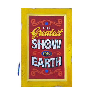 Greatest Show On Earth Vintage Style Circus Sign Hand Painted