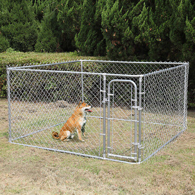 Dog House Kennel Large Cage Pen Outdoor Pet Durable Metal fences 7.5' x 7.5'x 4'
