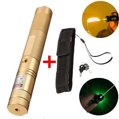 Adjustable Green Laser Pointer Lazer Pen Beam Light Focus 532nm 1mw High Power