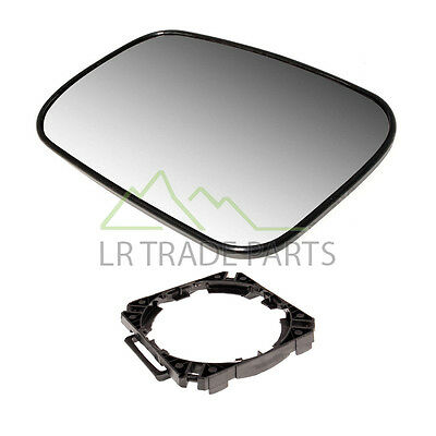 LAND ROVER DISCOVERY 2 LEFT HAND DOOR WING MIRROR GLASS  MOUNT   CRD100650 NS