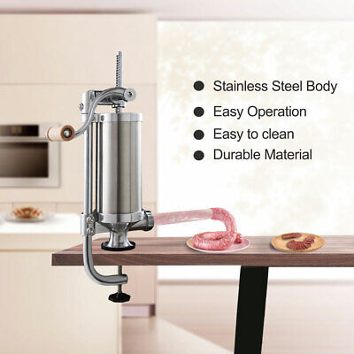 2.5 5 Lbs Manual Sausage Stuffer Clamp Type Make Meat Filler Machine