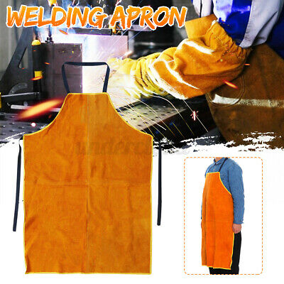 Cowhide Leather Welding Apron Welder Protection Clothe Mechanic Gear 27.5x39