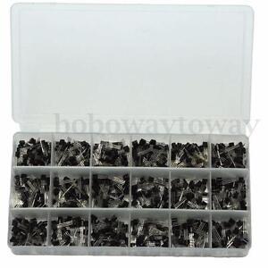 900stk. TO-92 A1015-2N5551 18 Arten Transistor Sortiment Kit mit Box Case
