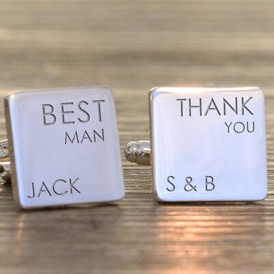 Personalised Wedding Role Wedding Cufflinks Best Man Groom Usher Father of