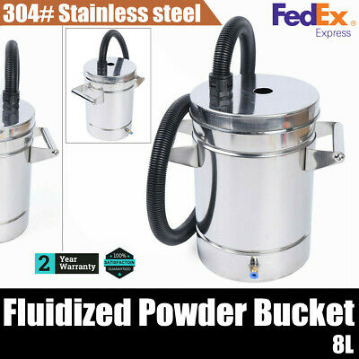 Small Stainless Steel 304 Fluidized Powder Hopper For Powde Coating Machine Usa
