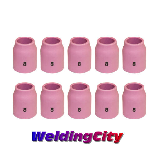 "Box of 10 WeldingCity Ceramic Gas Lens Cup 53N61S #8 1/2"" TIG Welding Torch 9/20"