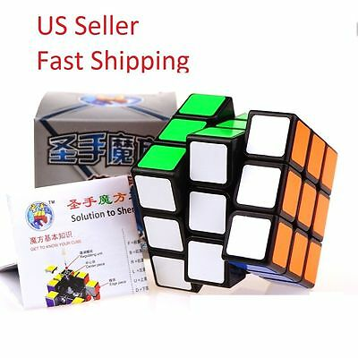 Legeny 3x3x3 Rubiks Speed Puzzle ABS Magic Smooth Professional Twist Cube Black