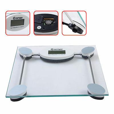 180Kg 396Lb Digital Personal Bathroom Body Glass Weight Heath Fitness Lcd Scale