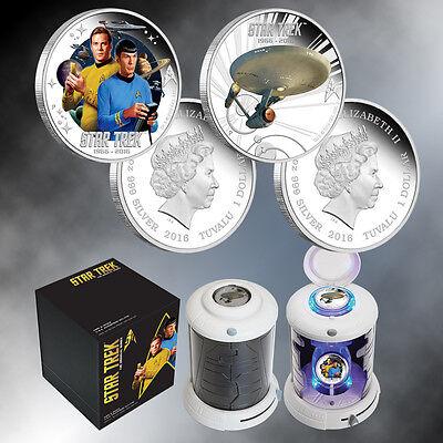 2016 Star Trek The Original Series Kirk: Spock & Enterprise Silver Proof Set