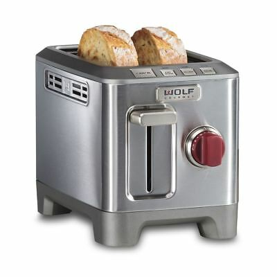 WOLF Gourmet WGTR102S, High Performance 2-Slice Toaster - Red Knob