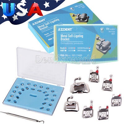 Dental Self Ligating Brackets Rothmbt 0.022 Braces 3 4 5 Buccal Tubew Tools