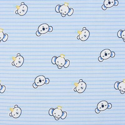 Baumwolljersey Jersey Streifen Koala Elefant Bär blau weiß - Koala Bär Kind Kostüme