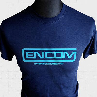 Encom T Shirt Tron Retro Sci Fi Movie Themed MCP Flynn Light Cycle Cool ()