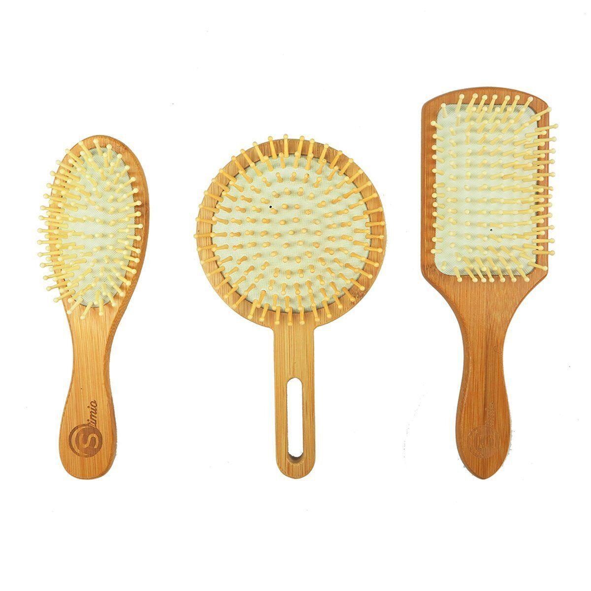 Bambus Haarkamm / Haarbürsten / Kopfhaut-Pflege / Antistatisch / 3 Designer