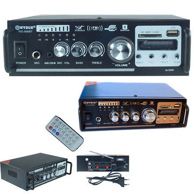 amplificatore audio stereo 2 canali bluetooth karaoke mp3 radio fm hi-fi 806BT