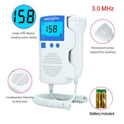 Prenatal Fetal Doppler Baby Heartbeat Monitor Ultrasonic Detector 3.0 Mhz Probe