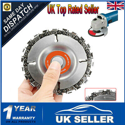 "22 Tooth 4"" Angle Grinder Disc Saw Blade Chain Saw for Carving Wood Plastic UK"