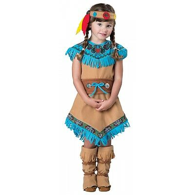 Indian Girl Costume Toddler Pocahontas Kids Halloween Fancy Dress