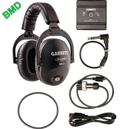 Garrett MS-3 Z-Lynk Wireless Headphone Kit / Metal Detectors /Free Priority Mail