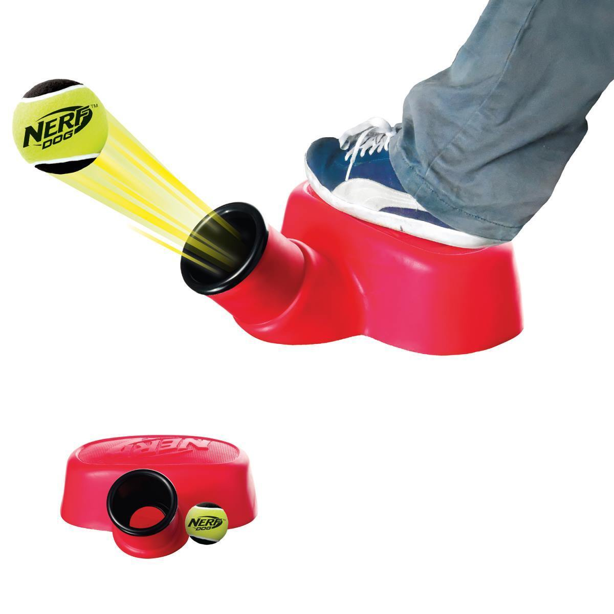 Nerf Dog Stomp Launcher - Ballkanone mit Tennisball - Hundespielzeug VP6864E