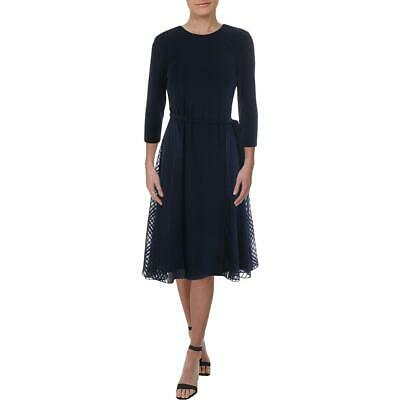 Lauren Ralph Lauren Womens Jadel Navy Wear to Work Dress Petites 8P BHFO 1741