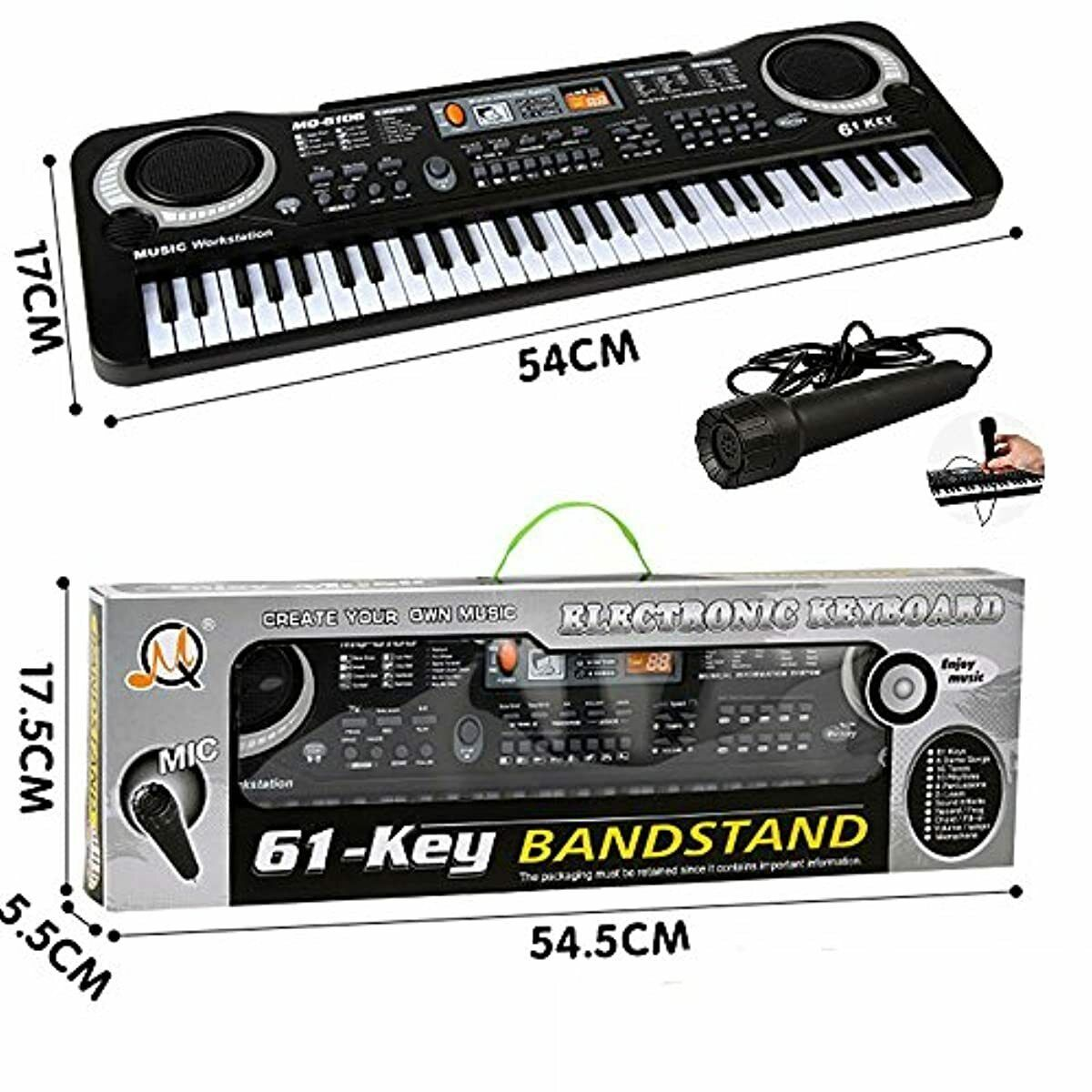 61 Key Keyboard Piano For Kids,Children Portable Electric Or
