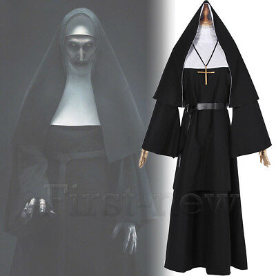 Nun Suit (Women Nun Robes Dress For The Conjuring Scary Suit Cosplay The Nun Valak)