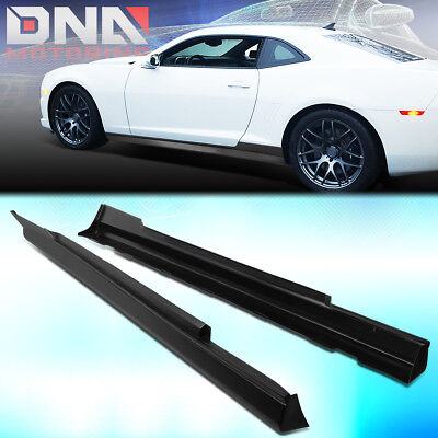 1 Style Body Kit (FOR 2010-2015 CHEVY CAMARO ZL1 STYLE PAIR ABS SIDE SKIRTS EXTENSION LIP BODY)