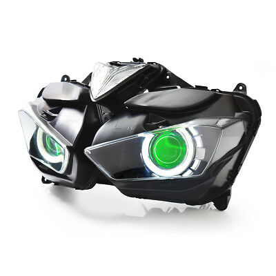 KT LED  Headlight Assembly for Yamaha YZF R25 2015 2016 2017 2018 Green