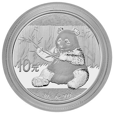 2017 China 10 Yuan 30g Silver Panda GEM BU in Mint Cap SKU43865
