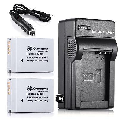 NB-10L Battery + Charger For Canon Powershot SX40 HS SX50 HS SX60 HS G15 G16 G1X