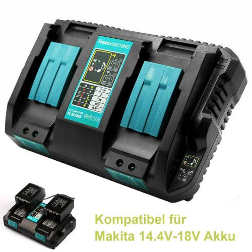 für Makita 4 Fach Ladegerät 14.4-18V DC18SF Schnellladegerät BL1850 BL1440B DE