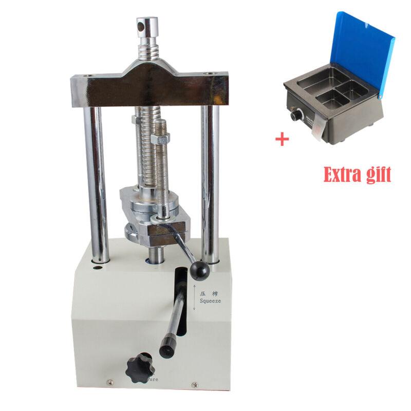 Dental Lab Hydraulic Press Flask Presser Pressure Lifting+Analog Wax Heater Pot