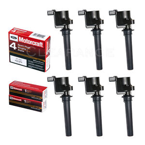 6 Ignition Coil DG500 + 6 Motorcraft SP493 Spark Plugs For Ford, Mazda, Mercury