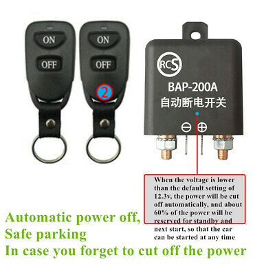 Wireless Remote Car Battery Disconnect Master Kill Switch Automatic Cut Off 12V