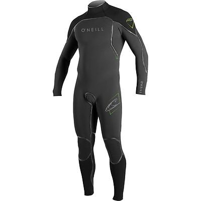 O'NEILL Men's 3/2 PSYCHO 1 Zen-Zip Wetsuit - Graph/Blk/DayGlo - Medium - NWT