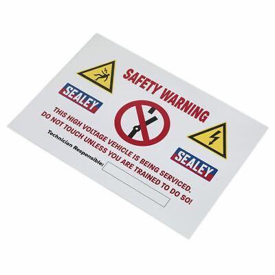 Sealey Hybridsign Híbrido/Eléctrico Vehículo Señal de Advertencia
