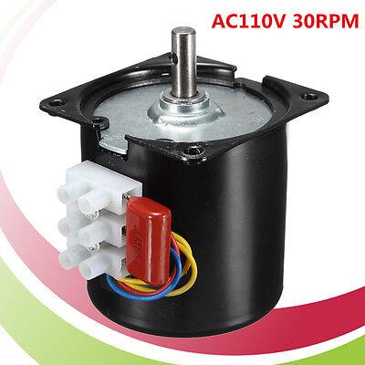 Ac 110v 30rpmmin Slow Speed Reversible Synchronous Motor Torque D-shape 5060hz