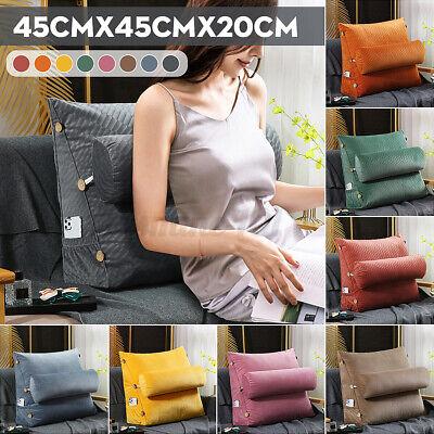 Ergonomisches Rückenkissen mit Abnehmbarer Nackenrolle Keilkissen für Sofa 45cm