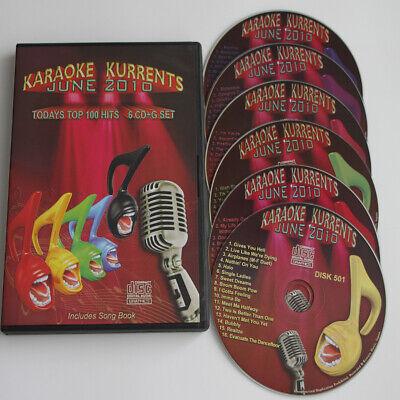 KARAOKE KURRENTS JUNE 2010 TOP HITS 6 CD+G DISC SET NEW IN CASE w/PRINT