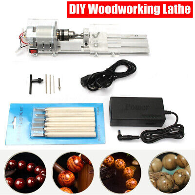 24v 100w Mini Lathe Beads Polisher Machine Table Woodworking Wood Craft