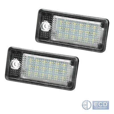 mit E4 Prüfzeichen sehr hell 02-07 Led Kennzeichenbeleuchtung Audi A8 4E S8 Bj